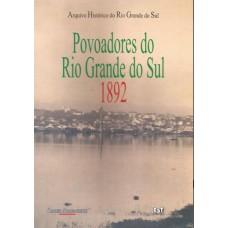 Povoadores do Rio Grande do Sul: 1892